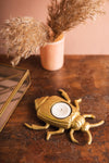 Gold Finish Bug Tealight Holder