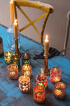 Set of Ten Colourful Mosaic Votives