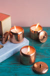 Luxurious Copper Jar Candle Set