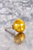Antiqued Gold Faceted Glass Door Knob