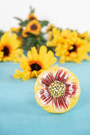Sunflower Ceramic Door Knob