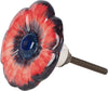 Poppy Flower Ceramic Door Knob