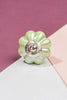 Pale Green Pearlescent Ceramic Flower Door Knob