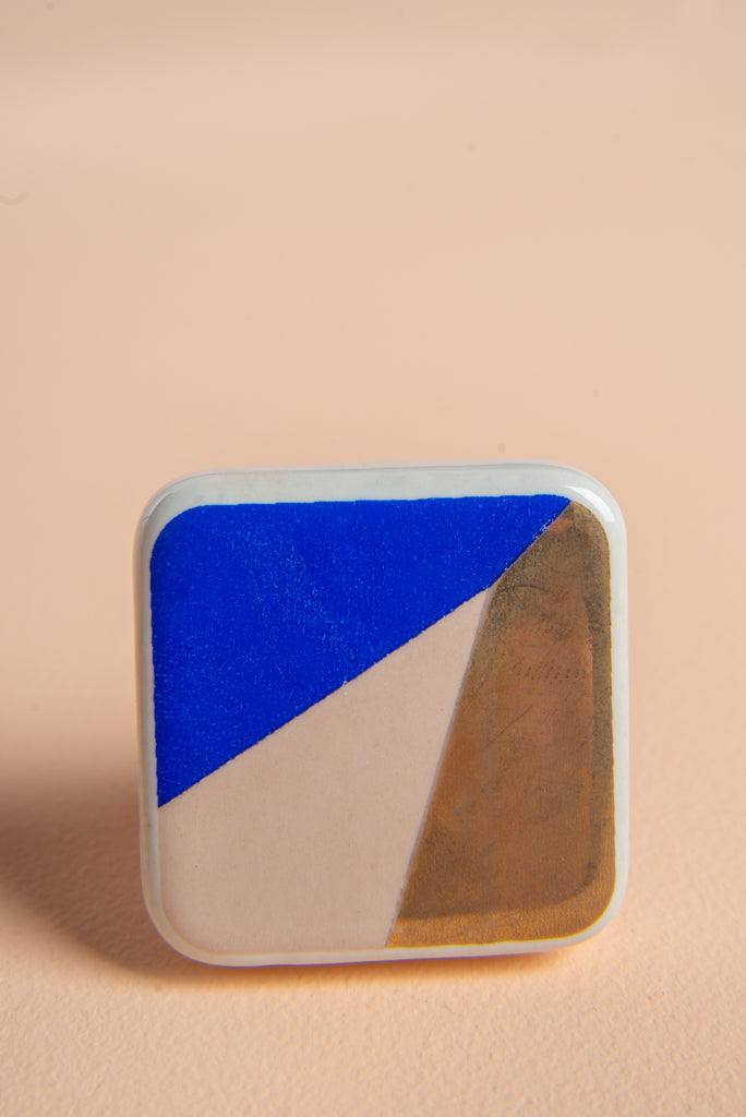 Geometric Ceramic Door Knob