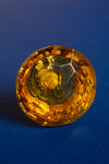 Yellow Faceted Round Glass Door Knob