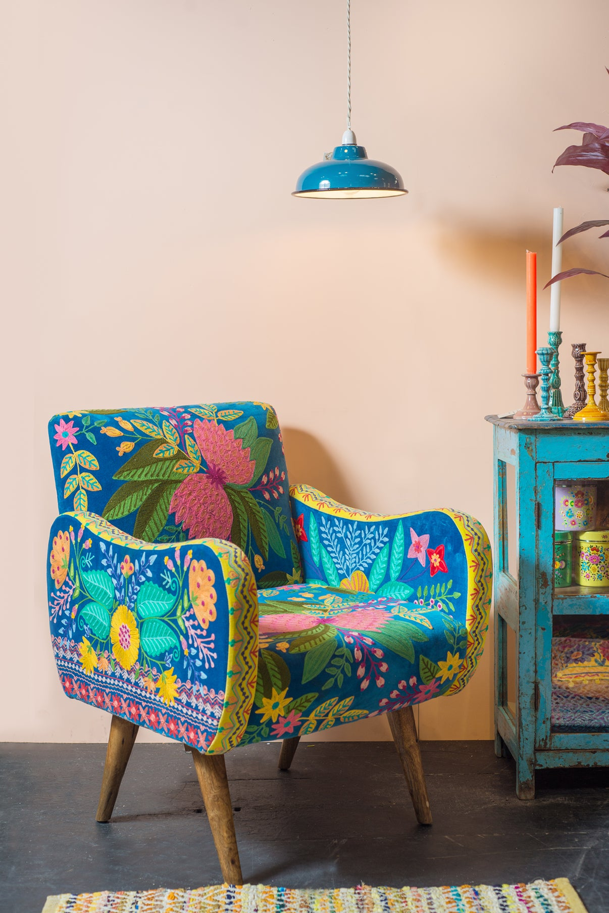 Cholena Embroidered Armchair
