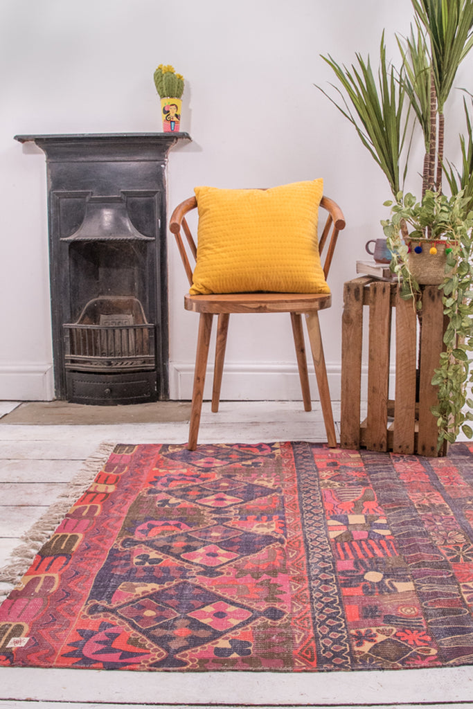 Rosetta Hand Woven Printed Cotton Rug