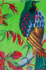 Green Bird of Paradise Velvet Fabric