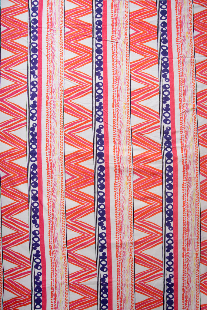 Aztec Design Velvet Fabric