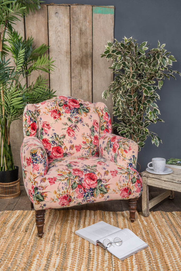 Pink Roses Armchair