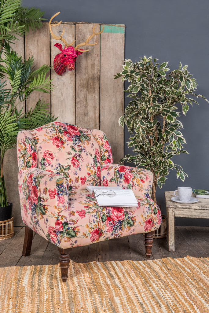 Pink Roses Armchair (496970051)