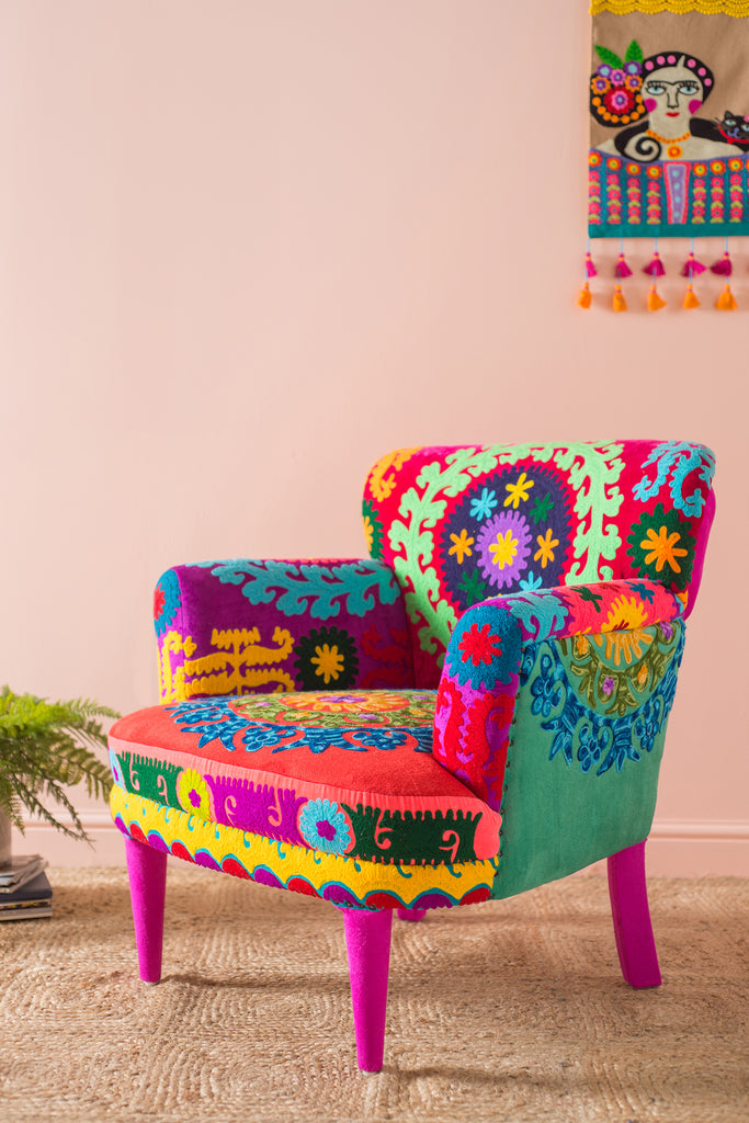 Surat Velvet Arm Chair