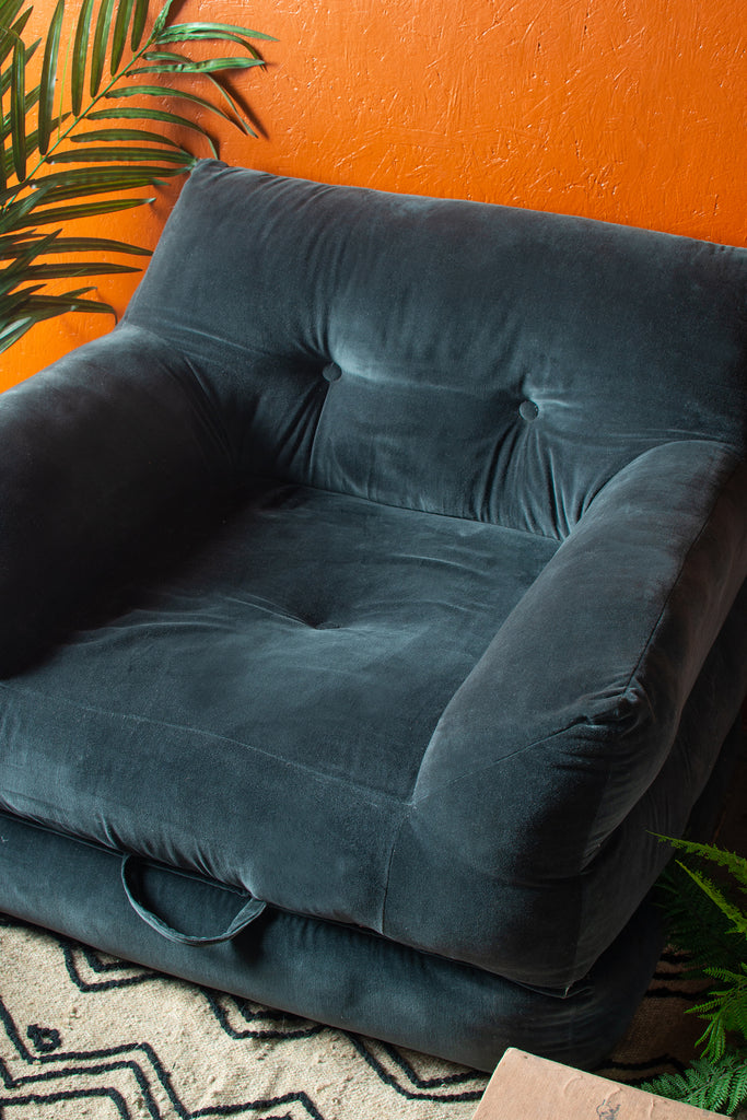 Abramo Navy Velvet Chair/Lounger