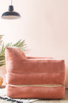 Abramo Rose Pink Velvet Chair/Lounger