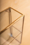Glass & Brass Display Cabinet with 1 Shelf