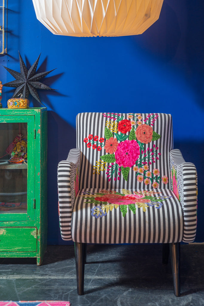 Etenia Embroidered Armchair
