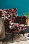 Black Bird of Paradise Velvet Chair