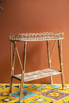 Cane Narrow Side Table