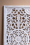 White Carved MDF Wall Panel