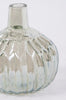 Set of 3 Pleated Iridescent Glass Vases