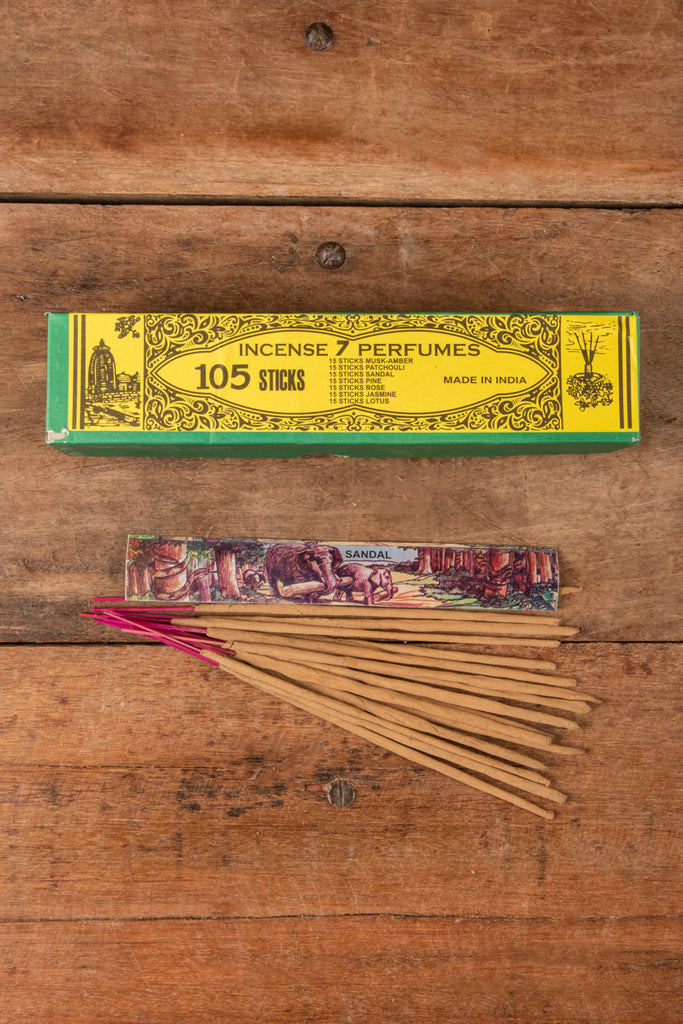 105 Sticks of Incense - Box of 7 assorted Fragrances