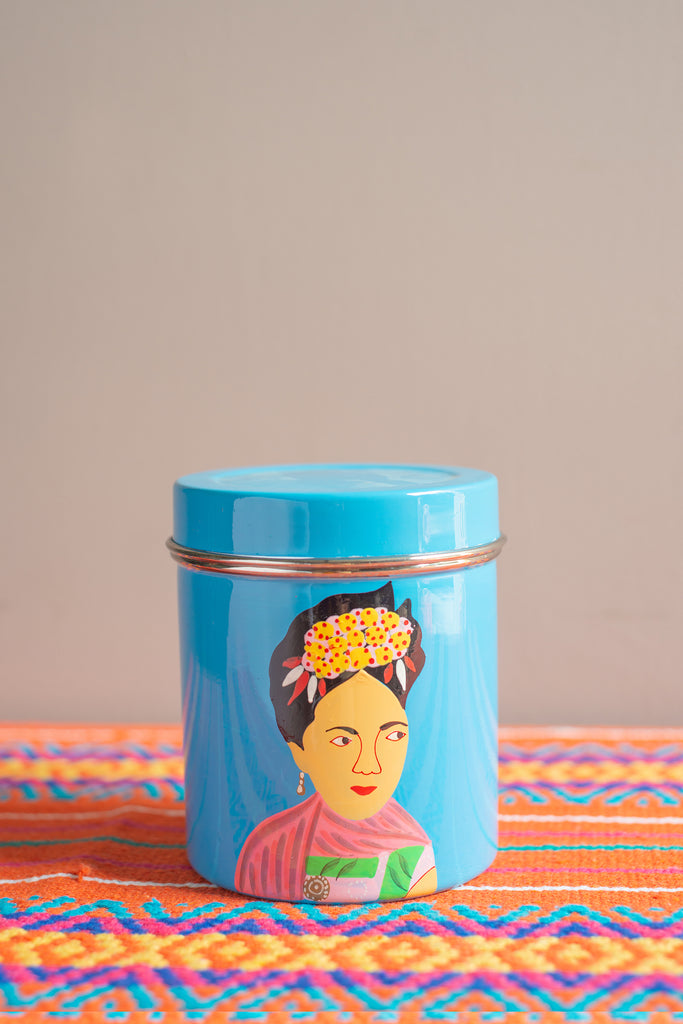 Hand Painted Frida Kahlo Stainless Steel Cannister