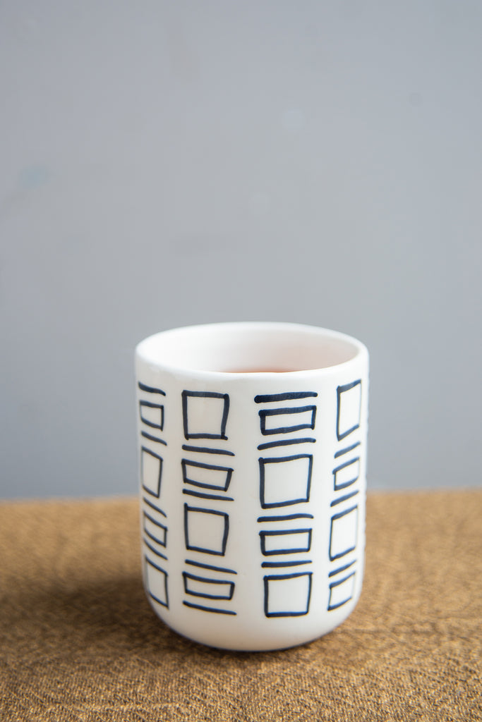 Black and White Ceramic Tumbler