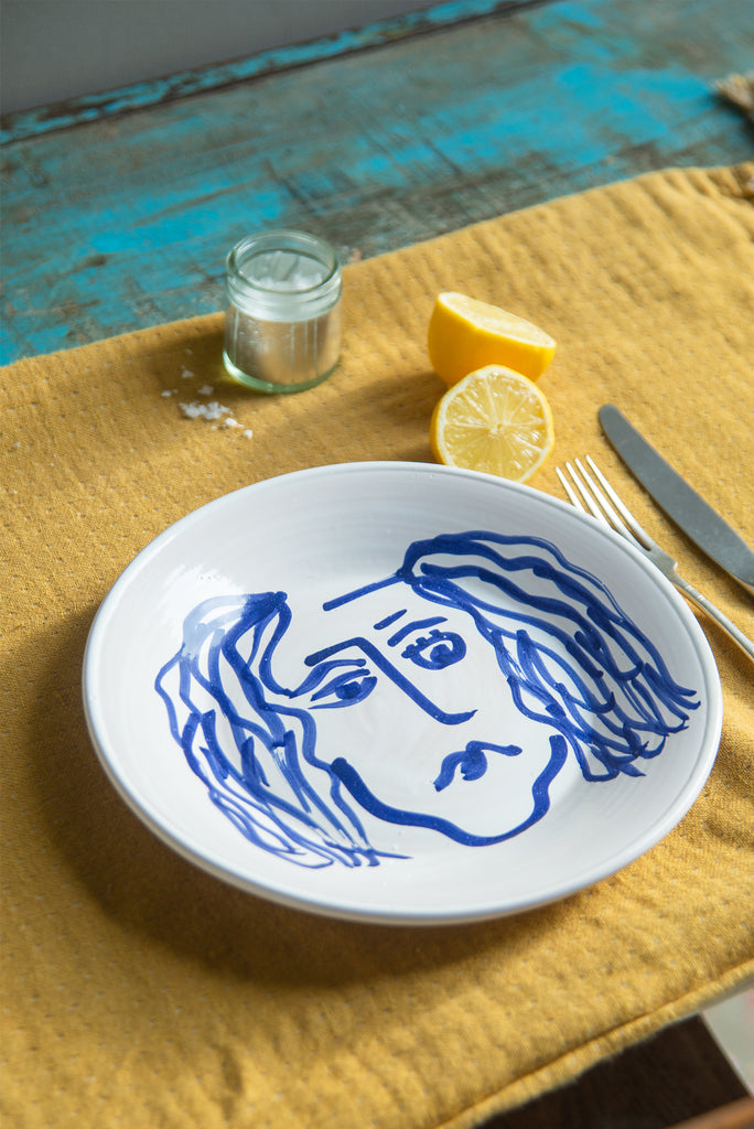 Face Design Ceramic Plate