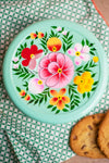 Green Hand Painted Cake Tin