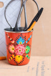 Orange Hand Painted Kashmiri Tumbler