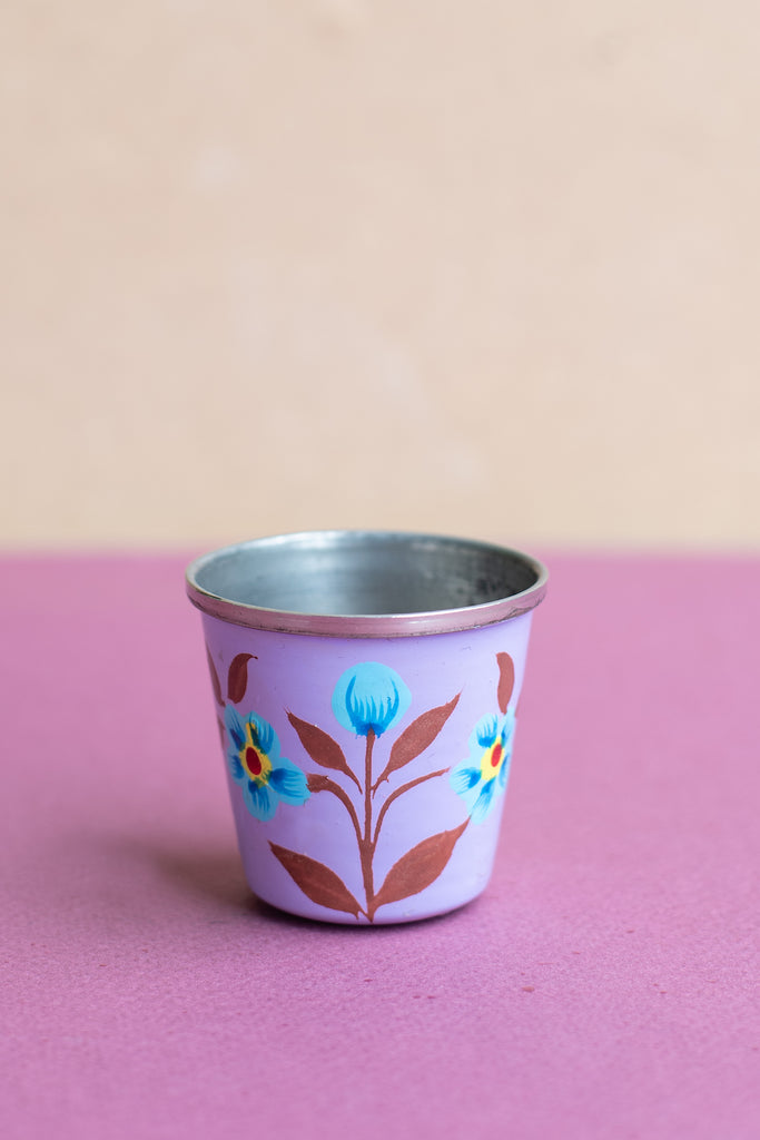 Purple Hand Painted Kashmiri Egg Cup