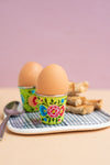 Lime Hand Painted Kashmiri Egg Cup