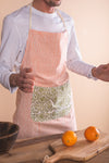 Coral Sunset Block Print Apron