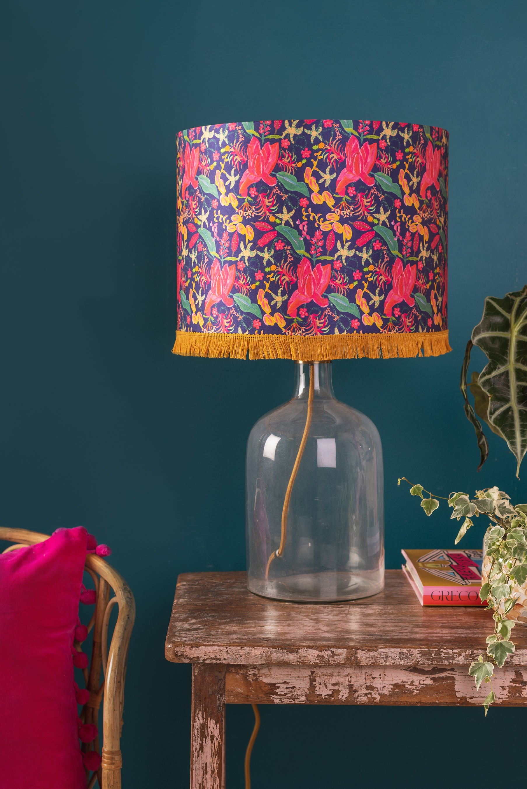 Caitlin Evans Navy Tropical Fusion Lampshade