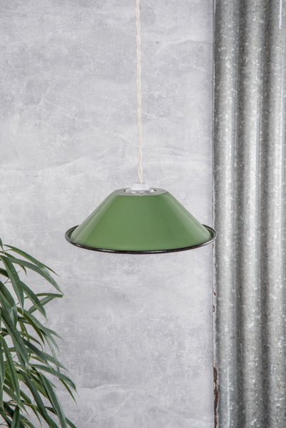 Green Small Enamel Lampshade
