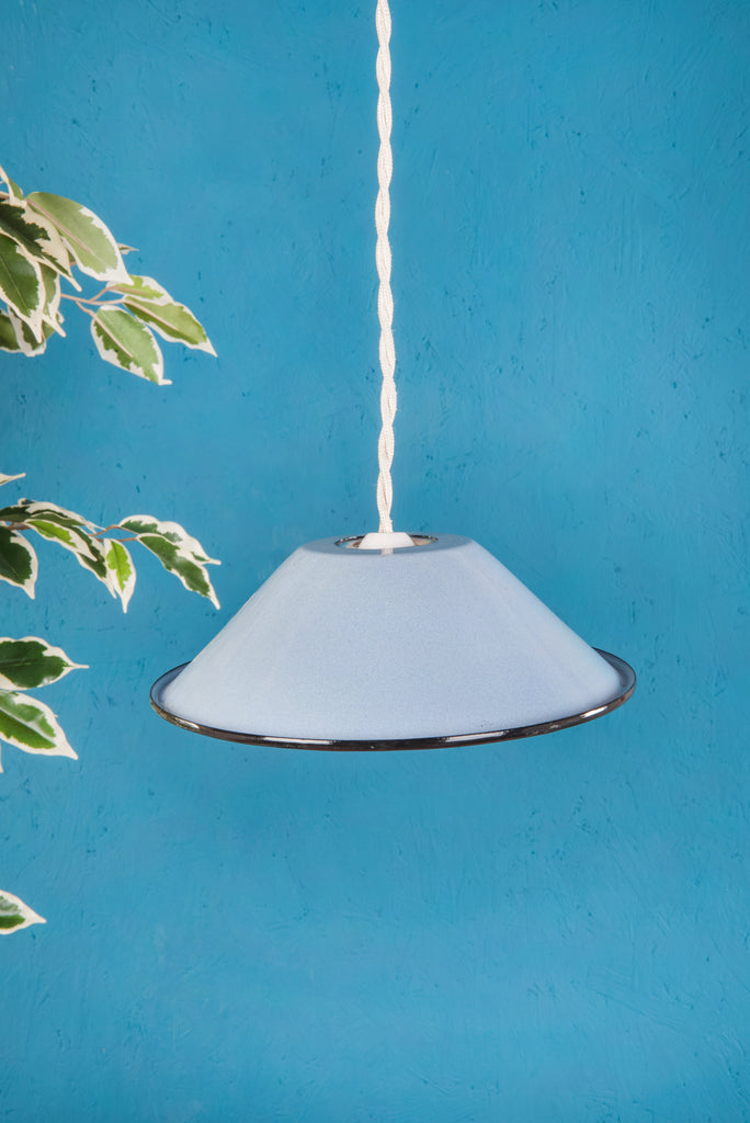 Denim Small Enamel Lampshade (410356847)