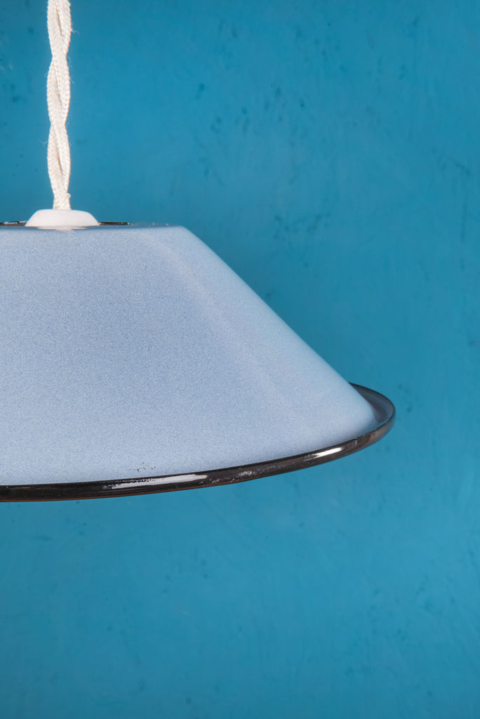Denim Small Enamel Lampshade