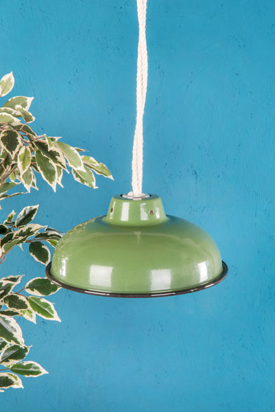 Green Medium Enamel Lampshade