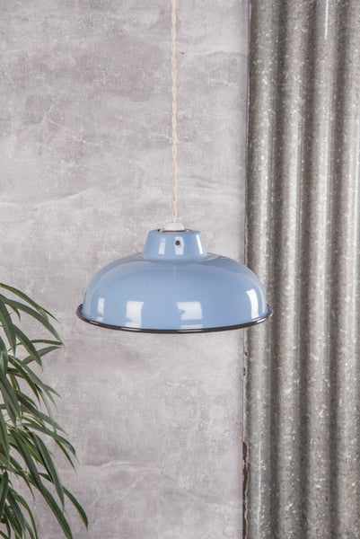 Denim Medium Enamel Lampshade