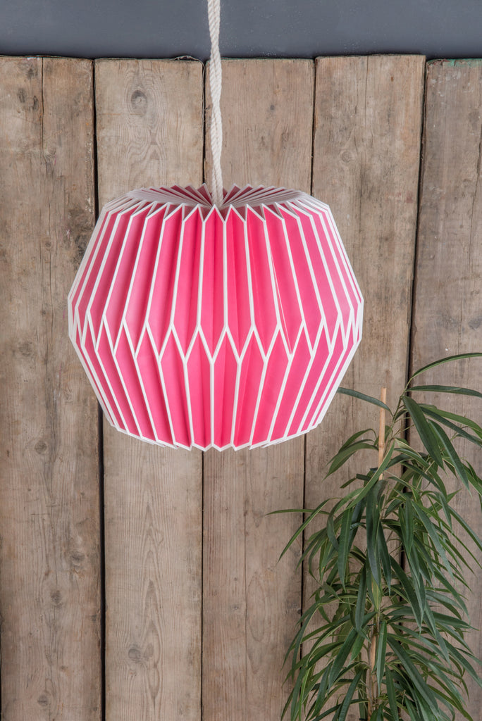 Paper Lampshade in Pink