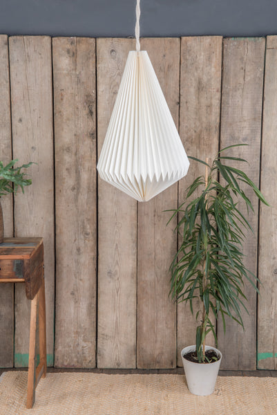 Pendant Natural Pleated Paper Lampshade