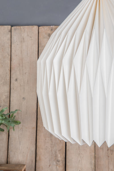 Pendant Natural Pleated Paper Lampshade Handmade And Fairtrade Ian Snow Ltd