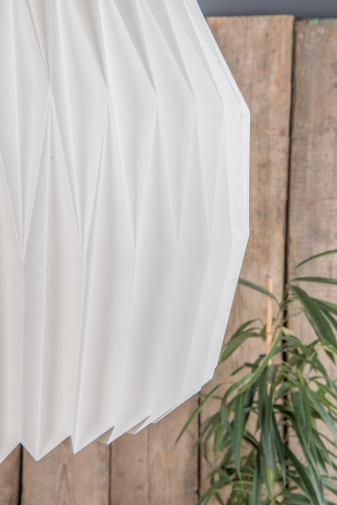 Dome Natural Pleated Paper Lampshade