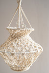 Urn Shaped Natural Macrame Lampshade