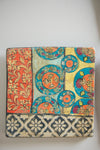 Set of 4 Hand-Painted Terracotta Tiles (413917343)