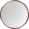 Round Mirror With Copper Frame, Two Assorted Sizes
