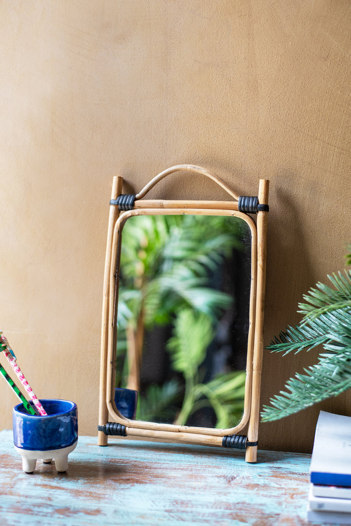 Cane Rectangular Wall Mirror