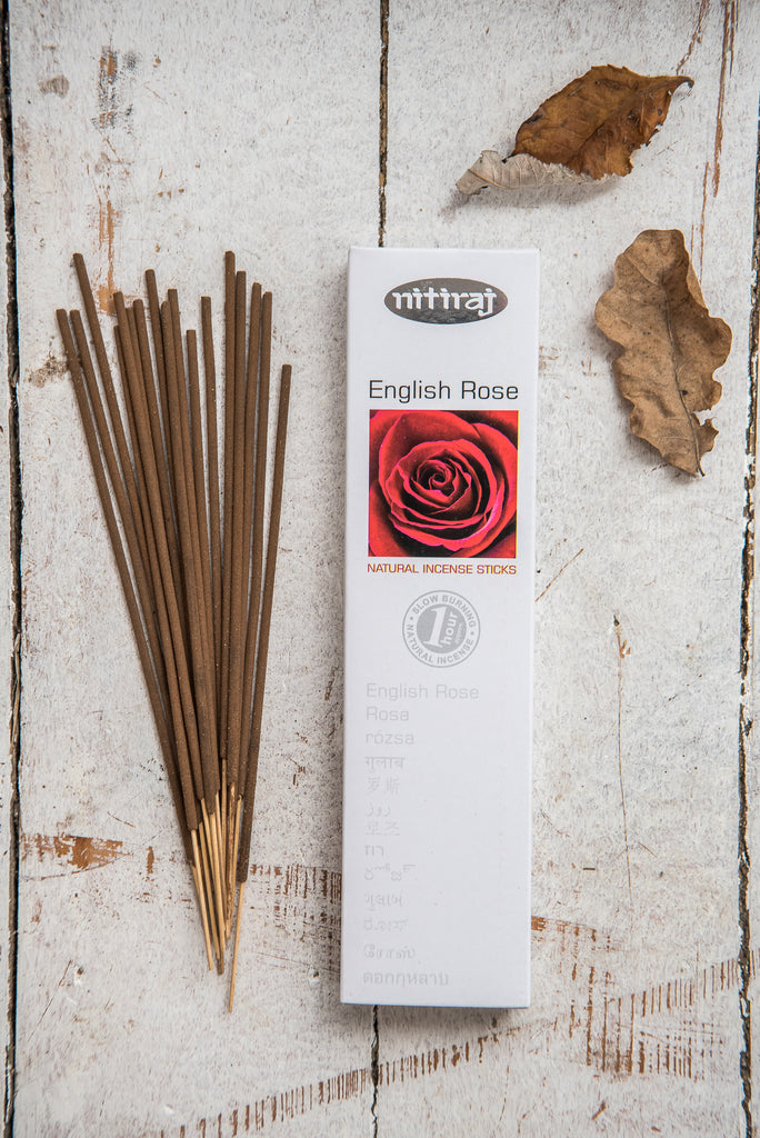 Nitiraj Platinum Incense - English Rose