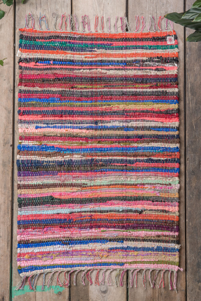 Multi-Coloured Rag Rug
