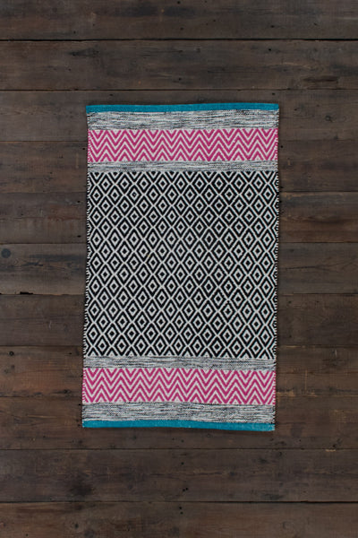 Diamonds & Chevrons Cotton Rug